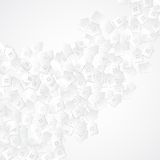 White abstract background with 3D paper cut houses Stock Photo
