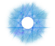 White abstract background with fractal star background. Blue cro Royalty Free Stock Image
