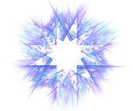 White abstract background with fractal star background. Purple c Royalty Free Stock Images