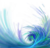 White abstract background with fractal texture. Purple big wave Royalty Free Stock Images