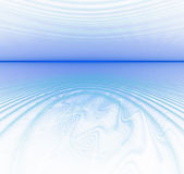 White abstract background with fractal texture. Turquoise circle. Ripples on the sea surface. Blue water horizon and waves on water stock illustration