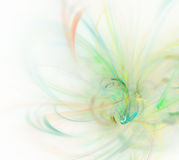 White abstract background with green feather texture, fractal pa. Ttern royalty free illustration