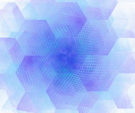 White abstract background with hexagonal cells fractal texture. Stock Images