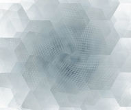 White abstract background with hexagonal cells fractal texture. Stock Image