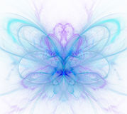 White abstract background with light - blue, turquoise, purple -. Butterfly texture, fractal pattern Stock Photo