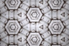 White abstract background pattern textured. Lines and symmetrical shapes royalty free stock photos