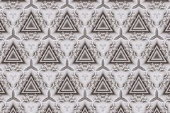 White abstract background pattern textured. Lines and symmetrical shapes royalty free stock photo