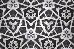 White abstract background pattern textured. Lines and symmetrical shapes stock image