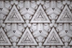 White abstract background pattern textured. Lines and symmetrical shapes royalty free stock photography