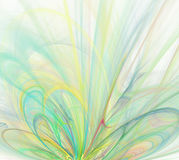 White abstract background with rainbow - green, turquoise, blue,. Yellow - texture, fractal pattern Stock Photo