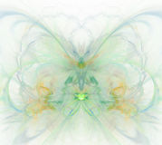 White abstract background with rainbow - green, turquoise, orang. E, yellow - orchid flower texture, fractal pattern Stock Illustration