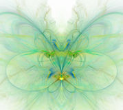 White abstract background with rainbow - green, turquoise, yello. W - butterfly texture, fractal pattern Vector Illustration