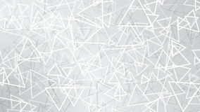 White abstract background of small triangles. Abstract background of small triangles in white colors Stock Photo