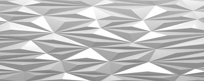 White abstract background triangular pattern surface Stock Image
