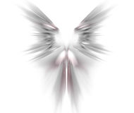 White abstract background with wings texture. Grey symmetrical f. Ractal rays shaped pattern Stock Photos