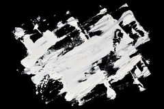 White abstract brush strokes Stock Images