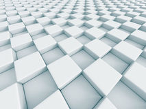 White Abstract Chess Pattern Cubes Background Royalty Free Stock Photos