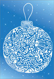 White abstract christmas ball Royalty Free Stock Images