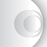 White abstract cirles. White abstract circles with drop shadow background. Vector illustration Royalty Free Stock Image