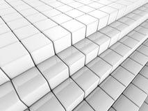 White Abstract Cube Blocks Background. 3d Render Illustration royalty free illustration
