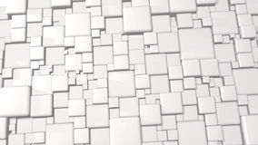 White Abstract Cubes 3d Background In 4k royalty free illustration