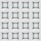 White abstract cubes 3D seamless pattern Royalty Free Stock Photo