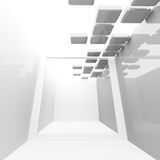 White abstract 3d corridor interior Royalty Free Stock Photo