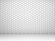White abstract 3d interior with honeycomb pattern Royalty Free Stock Photography