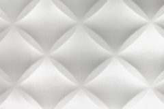 White Abstract 3D Modern Home Interior Polystyrene Tile Wall Bac Royalty Free Stock Image
