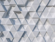 White abstract 3d triangle background Royalty Free Stock Photo