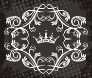 White abstract design crown Royalty Free Stock Photo
