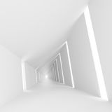 White abstract empty corridor interior. With windows. 3d illustration Royalty Free Stock Photography