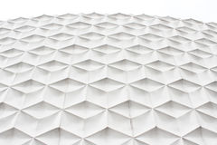White abstract facade. White abstract pattern facade side view of modern building in business district at noon background - texture Stock Photography