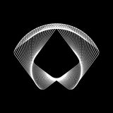 White Abstract Fractal Shape Stock Image