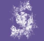White abstract fractal on ultraviolet background. Fantasy fractal texture. Digital art. 3D rendering. Computer generated image. White abstrct fractal on vector illustration