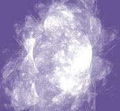 White abstract fractal on ultraviolet background. Fantasy fractal texture. Digital art. 3D rendering. Computer generated image. White abstrct fractal on stock illustration