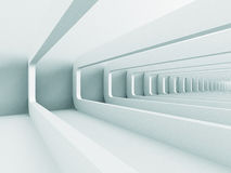 White Abstract Futuristic Corridor Architecture Background Royalty Free Stock Images