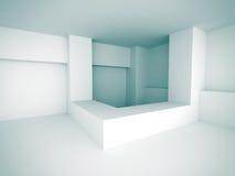 White Abstract Futuristic Design Interior Background. 3d Render Illustration vector illustration