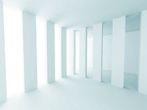 White Abstract Futuristic Design Interior Background Stock Photography
