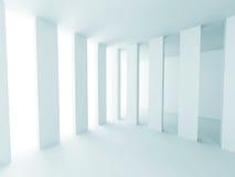 White Abstract Futuristic Design Interior Background. 3d Render Illustration royalty free illustration