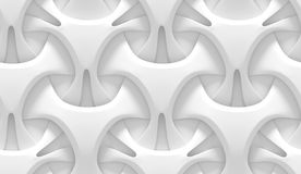White abstract geometric pattern. Origami paper style. 3D rendering seamless texture. Royalty Free Stock Photography
