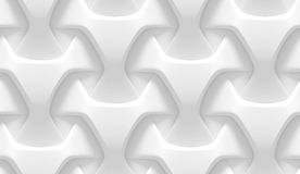 White abstract geometric pattern. Origami paper style. 3D rendering seamless texture. Stock Photos