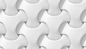 White abstract geometric pattern. Origami paper style. 3D rendering seamless texture. Royalty Free Stock Images