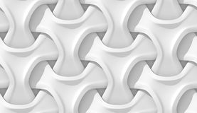 White abstract geometric pattern. Origami paper style. 3D rendering seamless texture. Royalty Free Stock Photos
