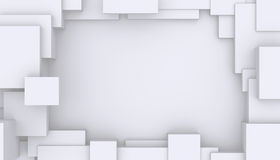 White abstract geometry background. Stock Photo
