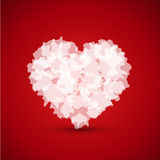 White abstract heart Stock Photography