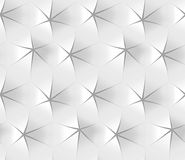 White abstract hexagonal geometric pattern. Origami paper style. 3D rendering seamless texture. White abstract hexagonal geometric pattern. Origami paper style Stock Photo