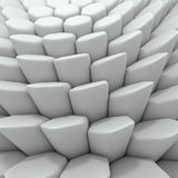 White abstract hexagons backdrop. 3d rendering geometric polygons Stock Photo
