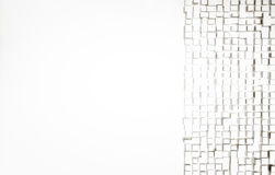 White abstract image of cubes background. 3d render Stock Image
