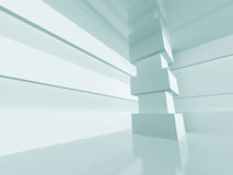 White Abstract Interior Architecture Background Stock Photography